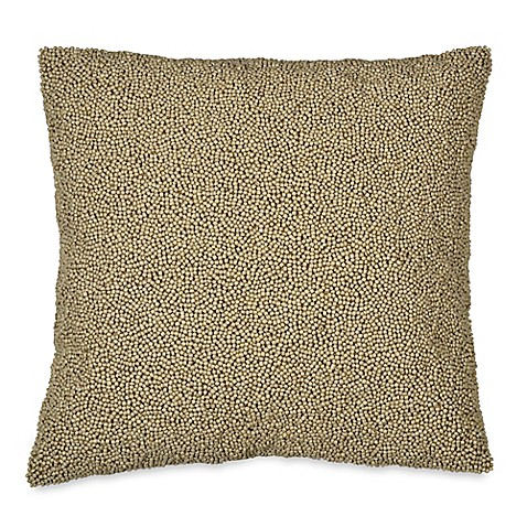 Dkny Loft Stripe Beaded Square Throw Pillow In Taupe Bed