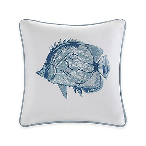 Harbor house seaside fish throw pillow bed bath beyond for Fish shaped pillow