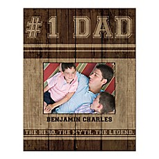 image of #1 Dad Canvas Wall Art