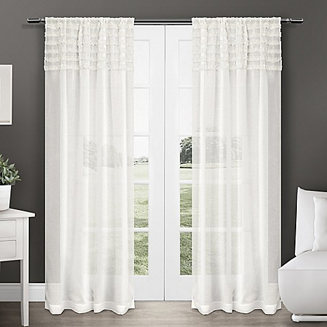 Harta 84 Inch Rod Pocket Semi Sheer Window Curtain Panel