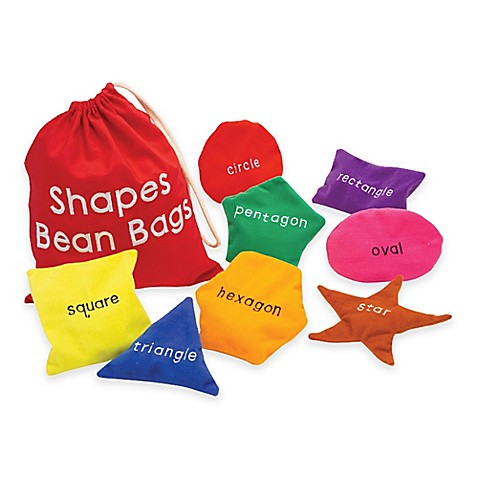Buy educational insights shapes bean bags set of 8 from for Hand shaped bean bags