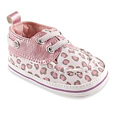 image of BabyVision® Luvable Friends™ Leopard Boat Shoe in Pink