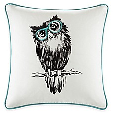 image of Madison Park HipStyle Owl Square Pillow in Aqua