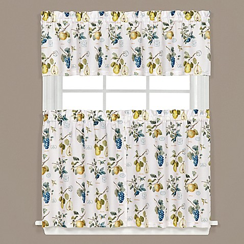 Botanical Fruit Kitchen Window Curtain Tiers And Valance
