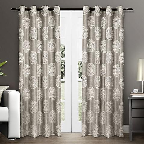 Akola Grommet Top Window Curtain Panel Pair Bed Bath