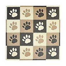 image of Tadpoles™ by Sleeping Partners Paw Print Play Mat in Taupe/Brown