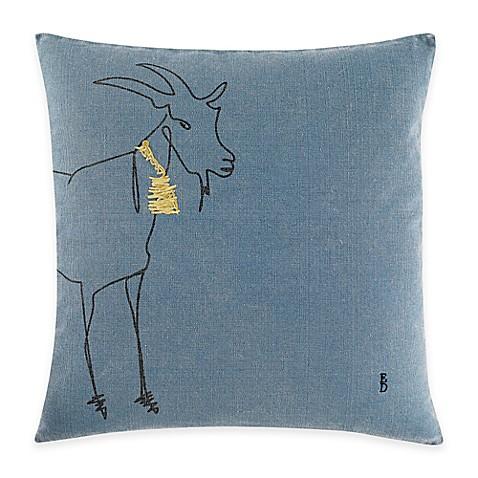 Medium Blue Throw Pillows : ED Ellen DeGeneres Goat Square Throw Pillow in Medium Blue - Bed Bath & Beyond