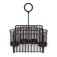 image of Gourmet Basics by Mikasa® Wire Rope Picnic Caddy in Black