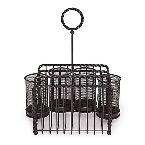 Gourmet Basics by Mikasa® Wire Rope Picnic Caddy in Black - Bed Bath ...