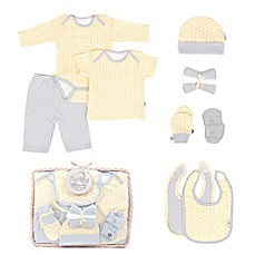 image of Tadpoles™ by Sleeping Partners Starburst Size 0-6M 12-Piece Layette Baby Gift Set in Yellow