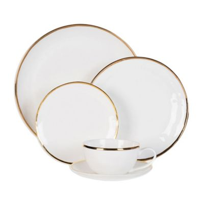 image of Olivia & Oliver Harper Organic Shape Gold Dinnerware Collection
