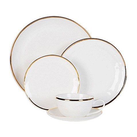 Olivia u0026 Oliver Harper Organic Shape Gold Dinnerware Collection  sc 1 st  Bed Bath u0026 Beyond & Olivia u0026 Oliver Harper Organic Shape Gold Dinnerware Collection ...