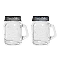 image of Mason Jar Salt and Pepper Shaker Set