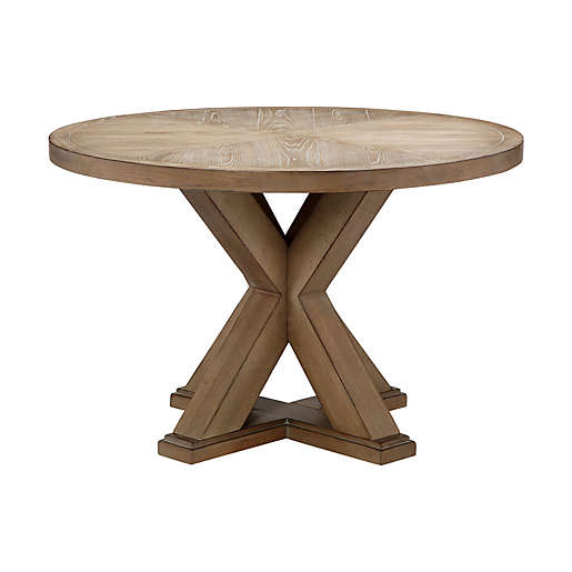 Madison Park Xavier 46 Inch Round Wood Dining Table In Natural Bed Bath Beyond