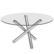 image of Zuo® Stant Round Dining Table in Chrome