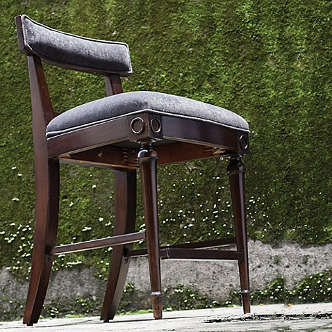 Uttermost Nicandro Counter Stool In Antique Hickory Bed
