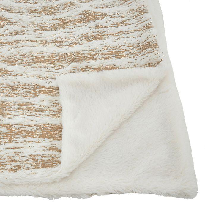 Saro Lifestyle Foil Print Reversible Throw Blanket Bed Bath Beyond