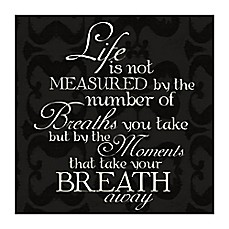 image of Measured Life Canvas Wall Art