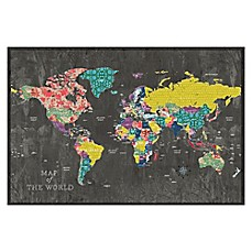 image of Pied Piper Creative Colorful Map Canvas Wall Art
