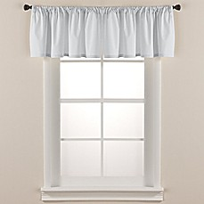 living room curtains with valance. image of Smoothweave  Tailored Window Valance Scarves Valances Bed Bath Beyond