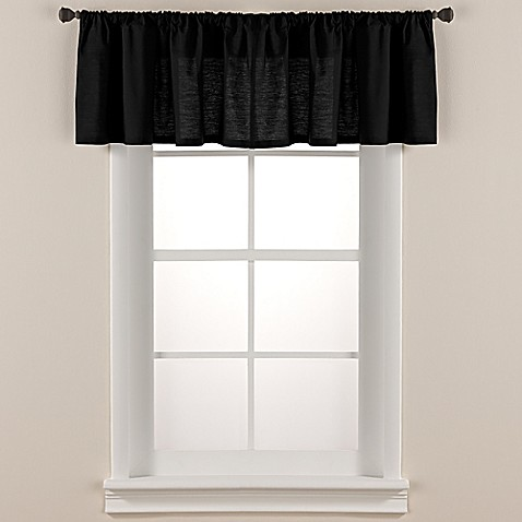 Smoothweave™ Tailored Window Valance in Black