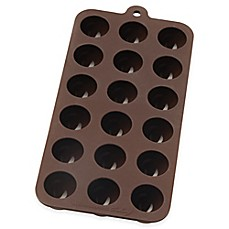 image of Mrs. Anderson's Baking® Nonstick 10-Inch x 4.12-Inch Silicone Truffle Chocolate Mold in Brown