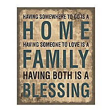image of Family Home Blessing Canvas Wall Art