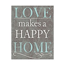 image of Love Makes a Happy Home Canvas Wall Art