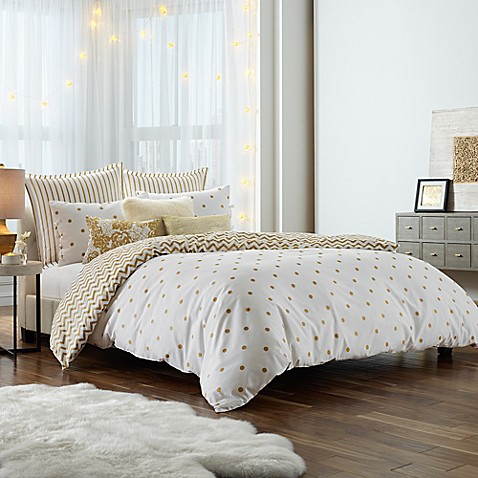 anthology gold glam mini comforter set bed bath beyond. Black Bedroom Furniture Sets. Home Design Ideas