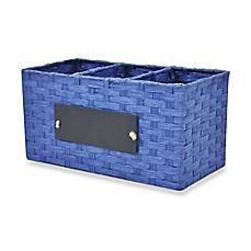 Storage organizers baskets bins bed bath beyond for Navy bathroom bin
