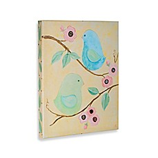 image of Birds and Bloom I Gallery Wrapped Canvas Wall Art