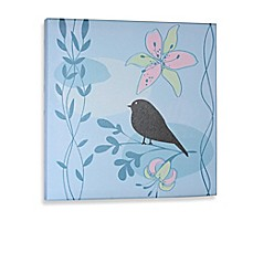 image of Green Frog Little Birdie I Canvas Wall Art