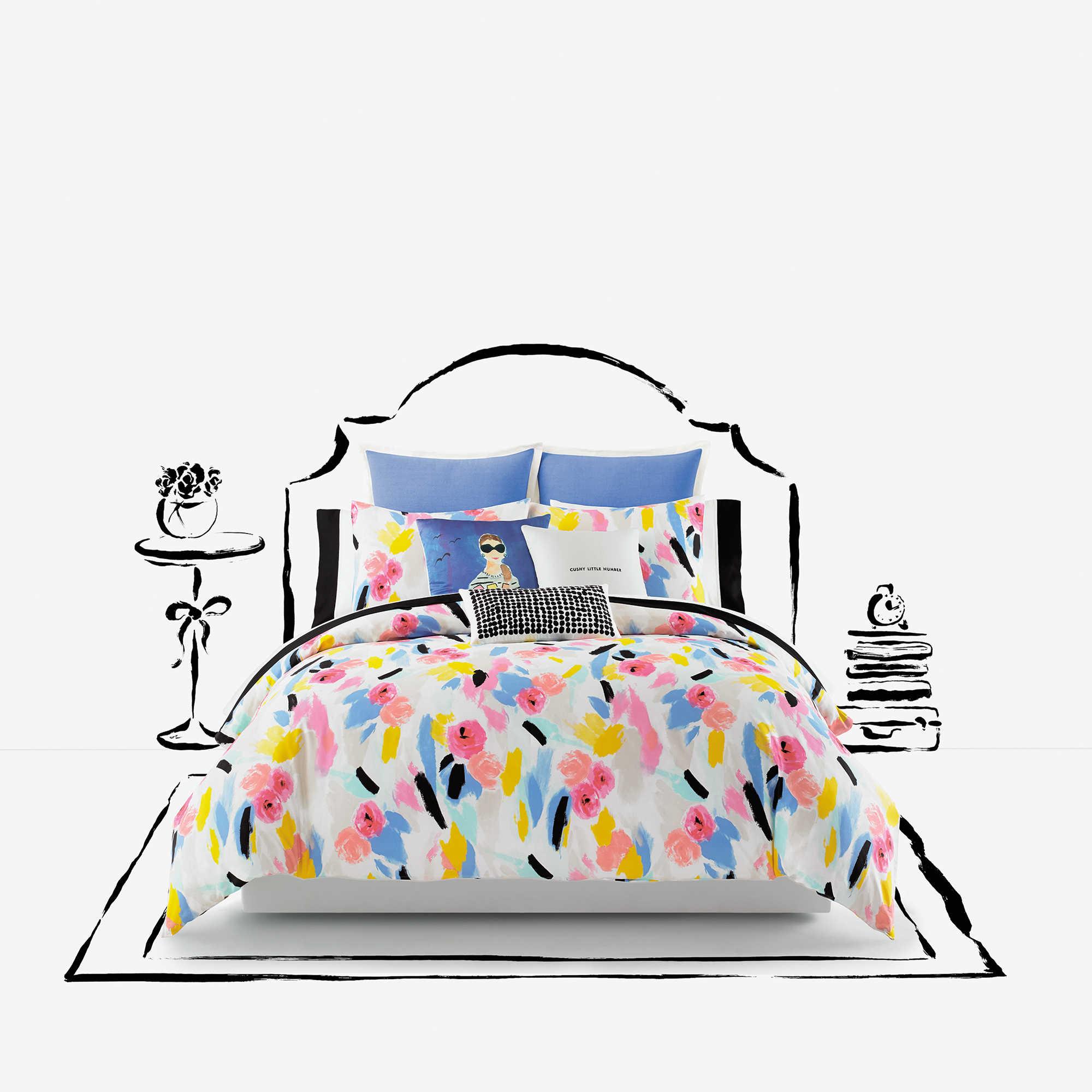 Kate Spade Duvet Cover Kate Spade New York Paintball Floral Comforter Set Bed Bath Beyond