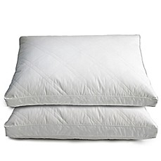 image of Quilted Goose and Feather Down Standard Pillow in White (Set of 2)