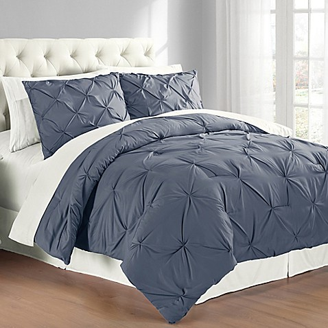 Pintuck Comforter Set - Bed Bath & Beyond