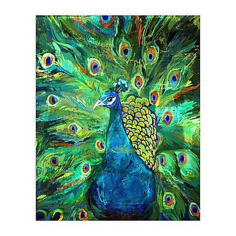 Pied Piper Creative Peacock Power Canvas Wall Art