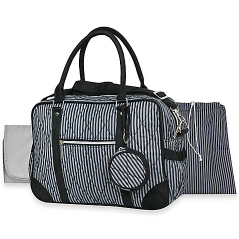buy wendy bellissimo quilted duffle style diaper bag in black from bed bath. Black Bedroom Furniture Sets. Home Design Ideas