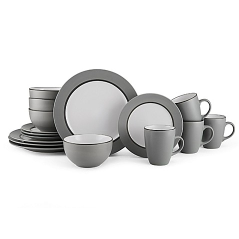 dinnerware sets stoneware square dinnerware and more bed bath u0026 beyond
