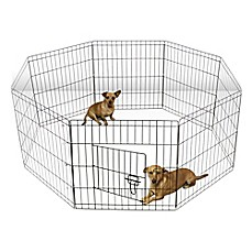 image of OxGord® Wire Pet Play Pen in Black