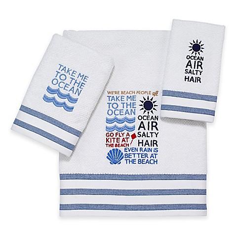 Avanti Beach Words Bath Towels Bed Bath Amp Beyond