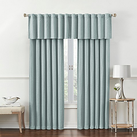rockwell room darkening window curtain panel and valance bed bath