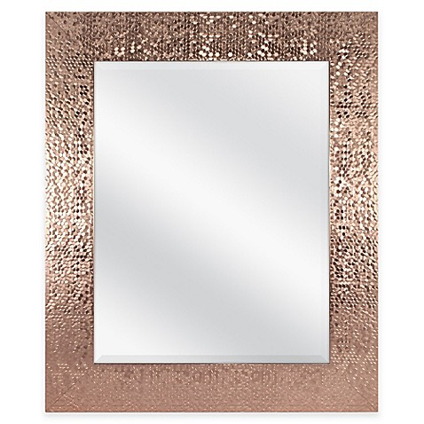 Door Solutions™ 36-Inch x 30-Inch Large Rectangular Sequin Mirror in Copper