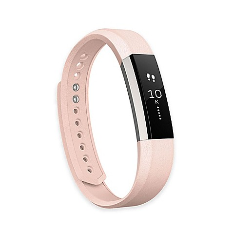 Fitbit® Alta™ Small Leather Accessory Band in Pink