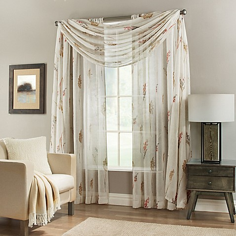 Springhill Sheer Window Curtain Panel And Scarf Valance
