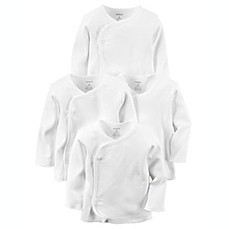image of carter's® 4-Pack Long Sleeve Kimono T-Shirts in White