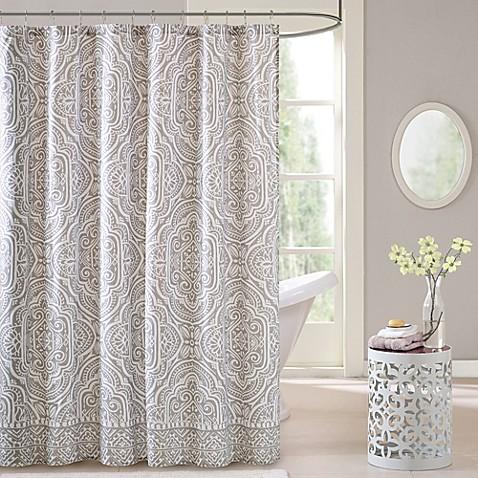 Intelligent Design Nitza Shower Curtain in Grey - Bed Bath & Beyond