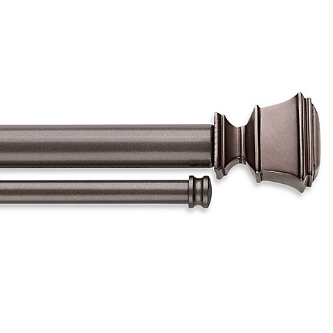 Buy Cambria Connections 28 To 48 Inch Adjustable Double Window Curtain Rod In Graphite From