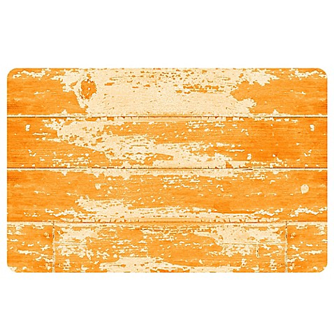 Buy the softer side by weather guard 18 inch x 27 inch barnboard kitchen mat in orange from bed - Orange kitchen floor mats ...