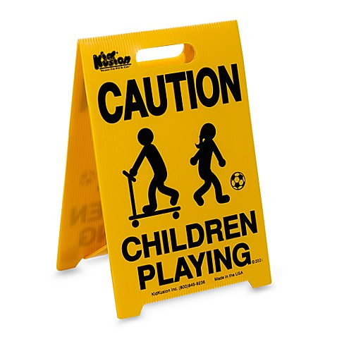 "KidKusion® Portable ""Children Playing"" Driveway Safety ..."