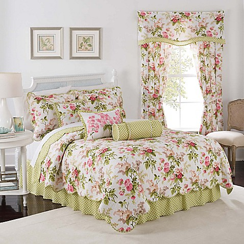 Waverly 174 Emma S Garden Reversible Quilt Set In Blossom
